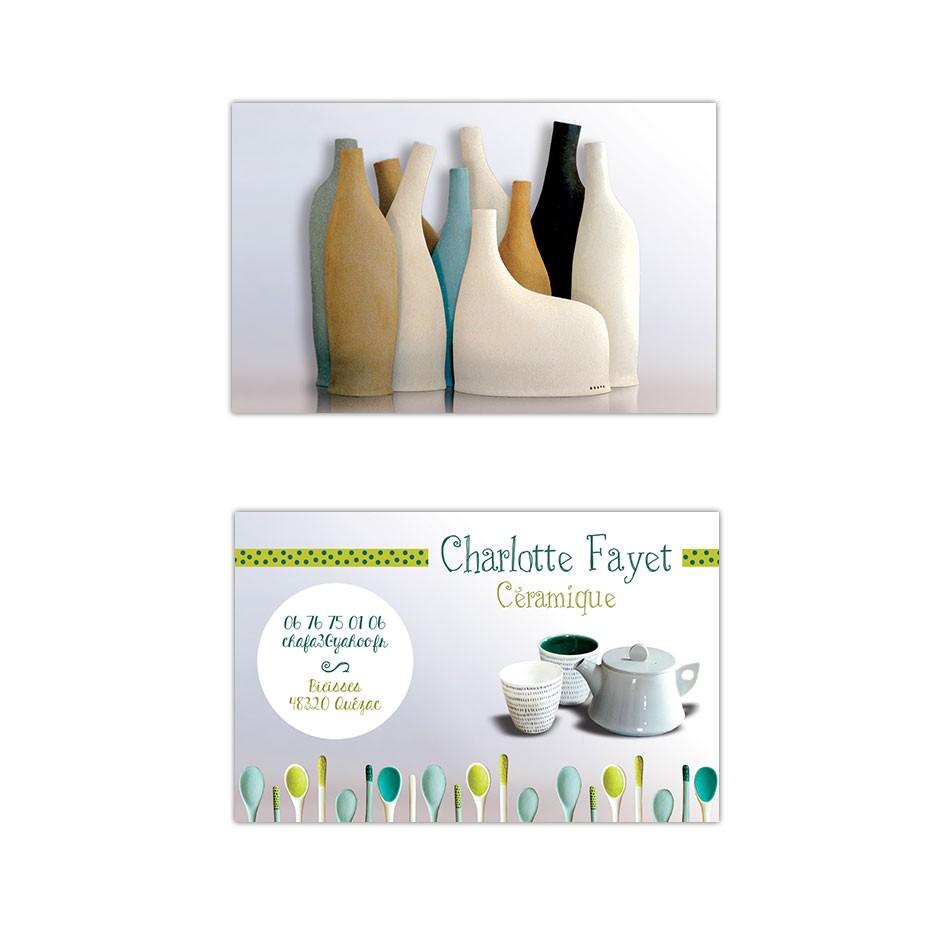 Carte De Visite Ceramique
